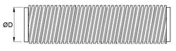 flexibles Aluminiumrohr, Ø 350 mm