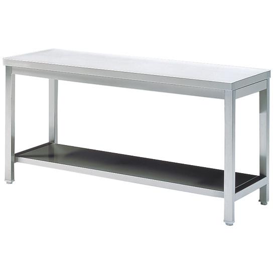 Arbeitstisch mit Zwischenboden, ohne Aufkantung, 1700x600 mm