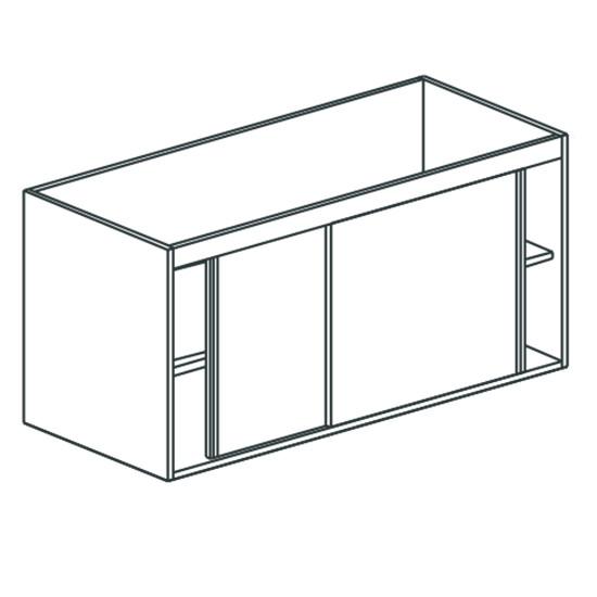 Arbeitsschrank, mit Schiebetüren, mit Zwischenboden, 1800x700 mm