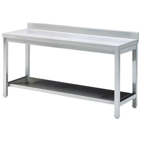 Arbeitstisch mit Zwischenboden, mit Aufkantung, 1000x700 mm