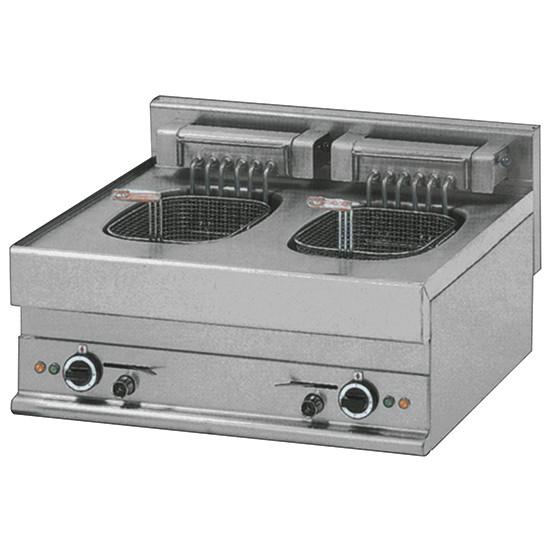 Elektro-Friteuse, Tischmodell, 10+10 Liter