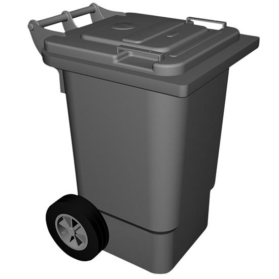 fahrbahrer Abfallbehälter, 60 Liter