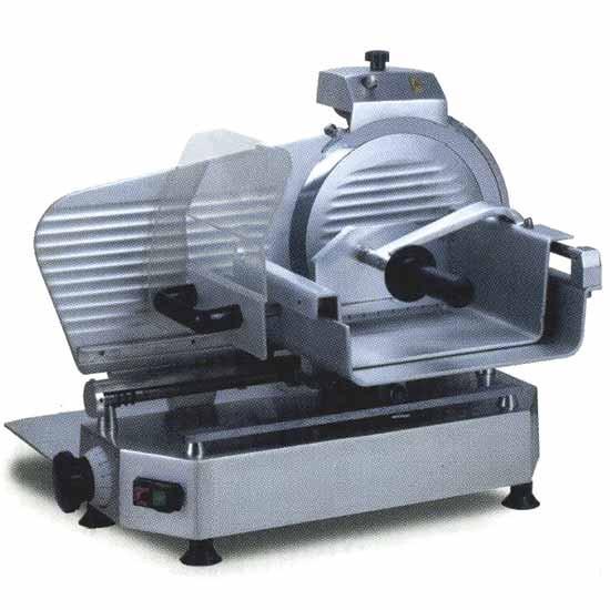 Aufschnittmaschine für Fleisch, Vertikalmodell, Messer Ø 300 mm