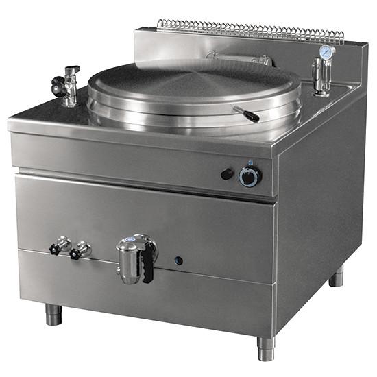 Gas-Kochkessel, quadratische Version, indirekte Beheizung, 200 Liter