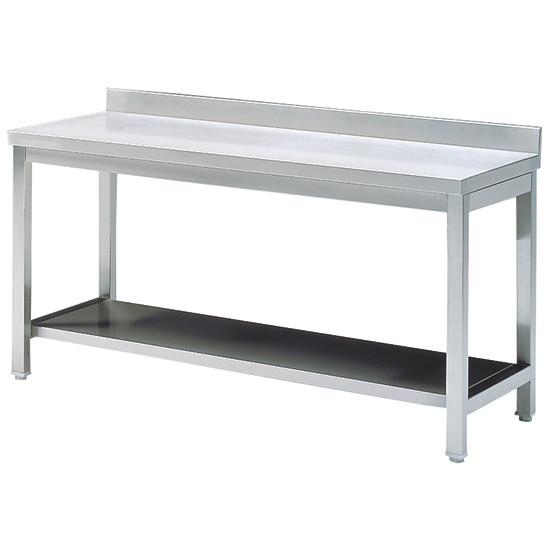 Arbeitstisch mit Zwischenboden, mit Aufkantung, 1600x600 mm