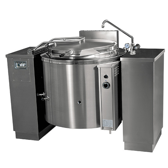 Gas-Kochkessel, kippbar, runde Version, indirekte Beheizung, 300 Liter