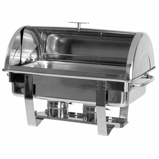"""Chafing Dish, GN 1/1, H=65 mm, """"Rolltop""""-Deckel, 2 Brenner"""