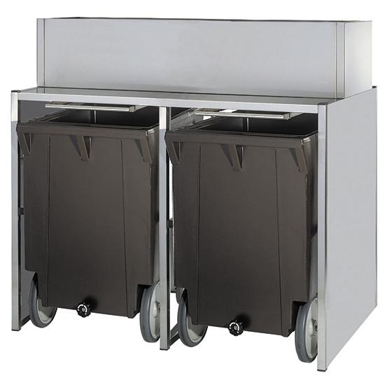 Eiswürfelbehälter auf Rädern, 50+2x108 kg, für KUEI EF01 106