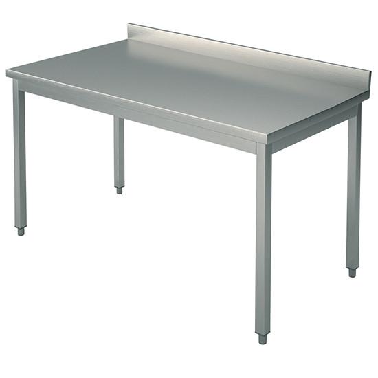 Arbeitstisch, auf Beinen 40x40 mm, mit Rahmen, mit Aufkantung, 2400x800 mm