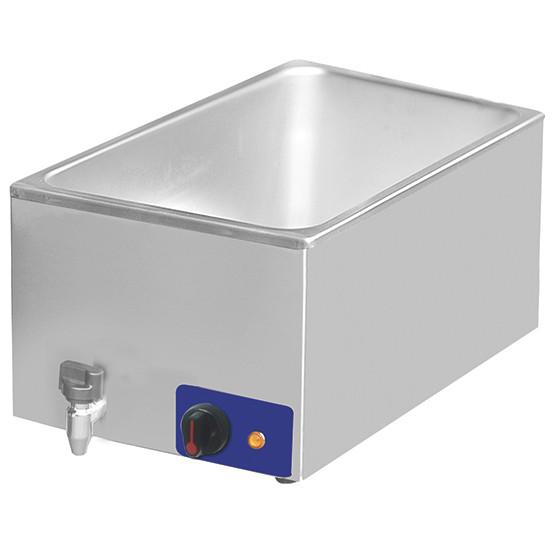 Elektro-Bain Marie mit Ablasshahn, Tischmodell, 1 Becken GN H=160 mm