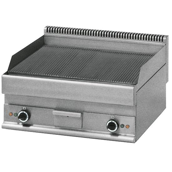 Elektro-Grillplatte, Tischmodell, gerillt