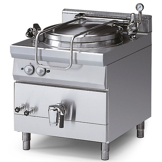Elektro-Kochkessel, indirekte Beheizung, mit Druckdeckel, 150 Liter