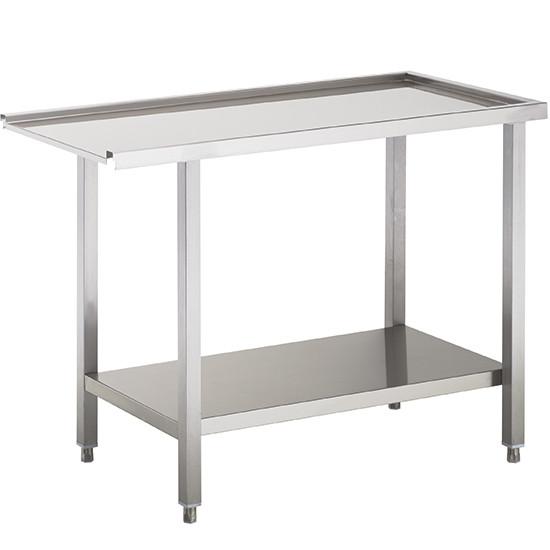 Auslauftisch oder Zulauftisch für Korbdurchschubspüler, B=700 mm