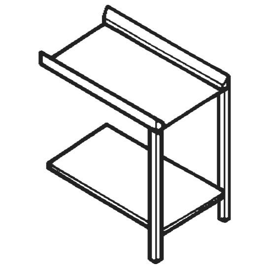 Auslauftisch oder Zulauftisch für Durchlaufspüler, B=1200 mm