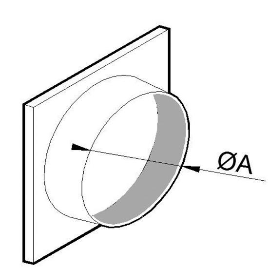 Ansaugstutzen, Ø 400 mm, für Aluminium Flexrohr
