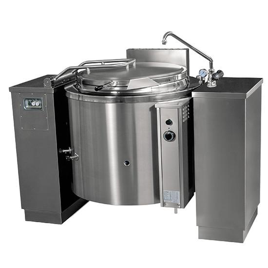 Gas-Kochkessel, kippbar, runde Version, indirekte Beheizung, 500 Liter
