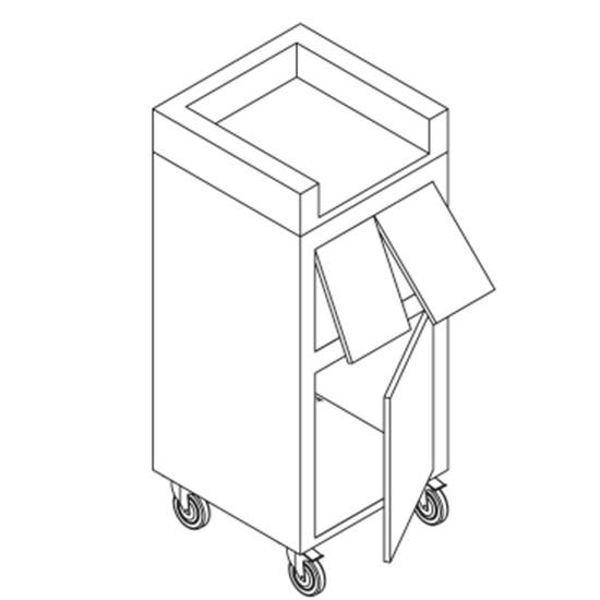 Abfall- und Tablettwagen