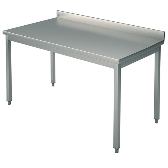 Arbeitstisch, auf Beinen 40x40 mm, mit Rahmen, mit Aufkantung, 2600x800 mm