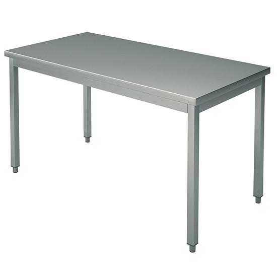 Arbeitstisch, auf Beinen 40x40 mm, mit Rahmen, ohne Aufkantung, 2400x1200 mm
